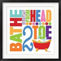 Bathe Framed Print