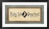 Framed Missing Sock Department