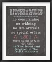 Framed Kitchen Rules