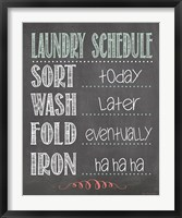Framed Laundry Schedule