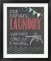Framed Family Laundry