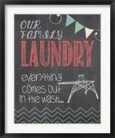 Family Laundry Framed Print