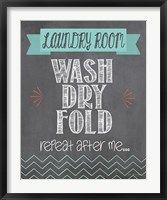 Repeat after Me Framed Print