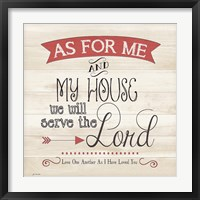 Serve Framed Print