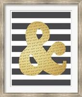 Framed Faux Gold Ampersand