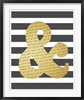 Faux Gold Ampersand Framed Print