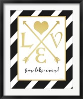 Faux Gold For Like Ever Framed Print