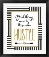 Framed Faux Gold Hustle