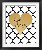 Framed Faux Gold Filled with Love