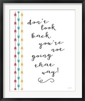 Going That Way Framed Print
