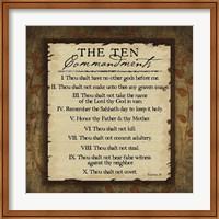 Framed Ten Commandments
