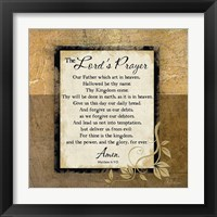 Framed Lord's Prayer