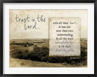 Framed Trust in the Lord