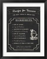 Framed Recipe for Success