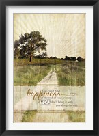 Bring Happiness Framed Print