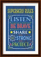 Framed Superhero Rules