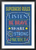 Framed Superhero Rules
