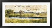 And God Saw that It Was Good Framed Print