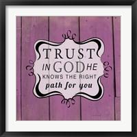 Trust in God Framed Print