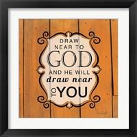 Framed Draw Near to God - Orange