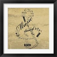 Framed Music Note