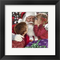 Framed Whispering To Santa