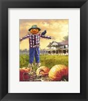 Framed Halloween Scarecrow