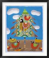 Christmas Tree & Birds Framed Print