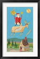 Framed Santa And Red