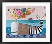 Framed Spring Whale