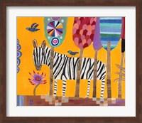 Framed Zebra
