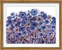 Framed Blue Blooming Garden