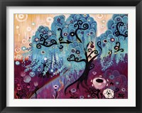 Framed Blue Weeping Willow Whimsy Ii