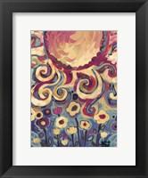 Framed Sun And Flower Whimsy