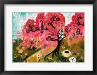 Framed Cherry Blossom Willow