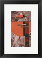 Framed Abstract Red