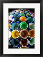 Cups And Tape 6 Framed Print