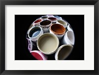 Color Cups & Tape 10 Framed Print