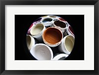 Color Cups & Tape 11 Framed Print