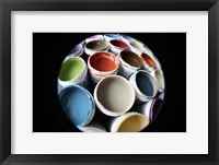 Color Cups & Tape 13 Framed Print