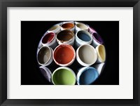 Color Cups & Tape 16 Framed Print