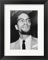 Framed Malcolm X at Queens Court