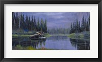 Framed Moose At Fisher Cap Lake