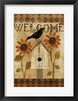 Framed Fall Welcome Flag