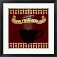 Framed Coffee Red Always Fresh