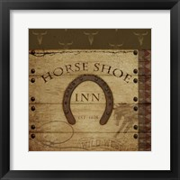 Horses Shoe Inn Framed Print