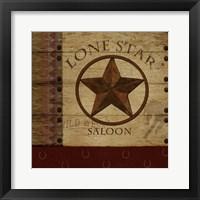 Lone Star Saloon Framed Print