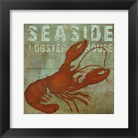 Framed Seaside Lobster Jouse