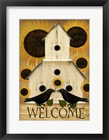 Welcome Fall Bird House Framed Print