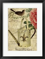Framed French Welcome